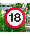 Tuindecoratie tuinbord 18 jaar
