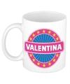 Valentina naam koffie mok beker 300 ml