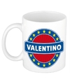 Valentino naam koffie mok beker 300 ml