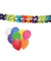Verjaardag versiering slinger met 8x ballonnen