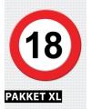 18 jarige verkeerbord decoratie pakket XL