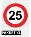 25 jarige verkeerbord decoratie pakket XL
