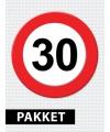 30 jarige verkeerbord decoratie pakket