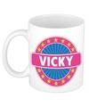 Vicky naam koffie mok beker 300 ml