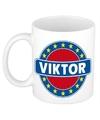 Viktor naam koffie mok beker 300 ml