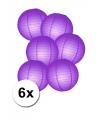Luxe ronde lampionnen paars 6x