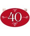 Wanddecoratie 40 jaar jubileum