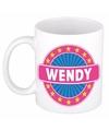 Wendy naam koffie mok beker 300 ml