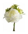 Wit kunstbloemen boeket 20 cm pioenroos dille
