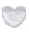 Bruiloft ring kussen hartvorm 30 cm