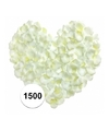 Witte rozenblaadjes 1500 stuks