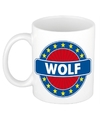 Wolf naam koffie mok beker 300 ml