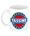 Yassine naam koffie mok beker 300 ml