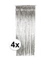 Zilveren deurgordijnen 244 cm 4 stuks
