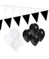 Zwart witte versiering pakket small