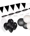 Zwart witte versiering pakket xxl