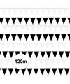 Zwart witte vlaggetjes pakket 120 meter