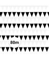 Zwart witte vlaggetjes pakket 80 meter