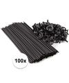 Zwarte ballonstaafjes 100 stuks
