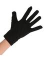 Zwarte korte ninja handschoenen voor volwassenen