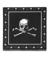 Kinderfeest piraten servetten zwart