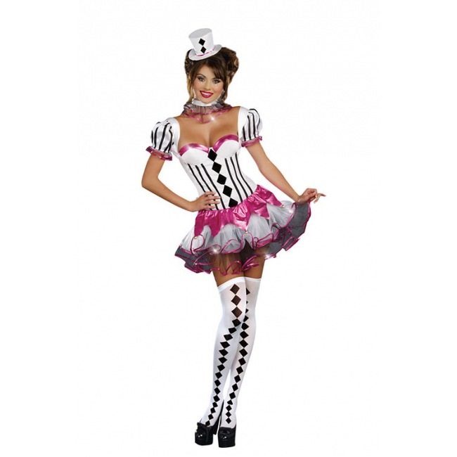 Carnavalskleding Dames Clown.Carnavalskleding Dames Cirque Du Sexy Dames Kostuum Luxe